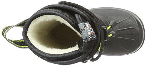 Viking Unisex-Kinder Nordlys Schneestiefel Schwarz (Black/Lime 288)