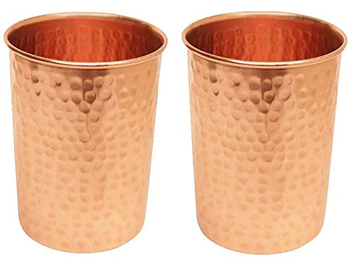 AVADOR Handcrafted 100% Pure Copper Jug Pitcher with 2 Glass Drinkware Hammered Finish Ayurveda Health Benefit by Avador (Image #4)