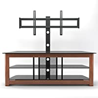 Gibson Living Lexington 60 Inch Floor Stand with Mount in Cherry