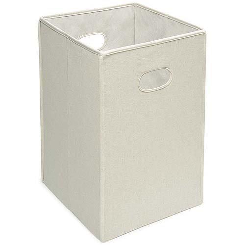 Badger Basket - Folding Hamper/Storage Bin, Ecru