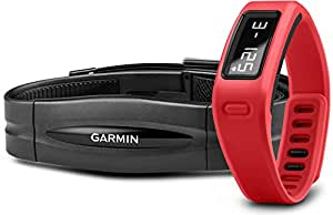 Garmin vívofit Fitness Band - Red Bundle (Includes Heart Rate Monitor)