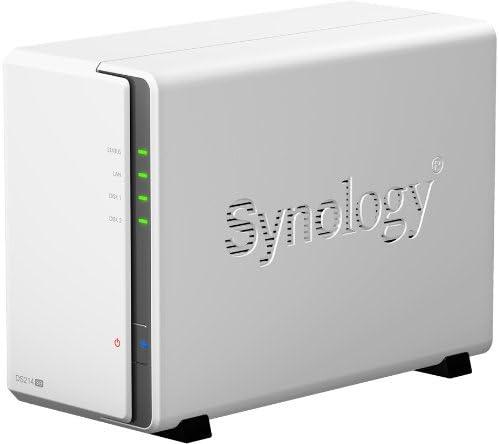 Synology DS214se - Servidor NAS de 2 bahías (CPU 800MHz, DDR3 256MB) Color blanco: Amazon.es: Informática