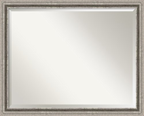 Wall Mirror Large, Bel Volto Silver Wood: Outer Size 31 x 25