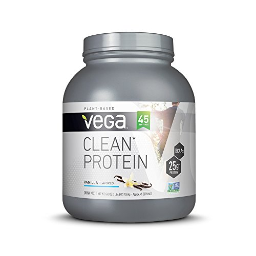 Vega Clean Protein Powder, Vanilla, 3.43lb, 45 Servings