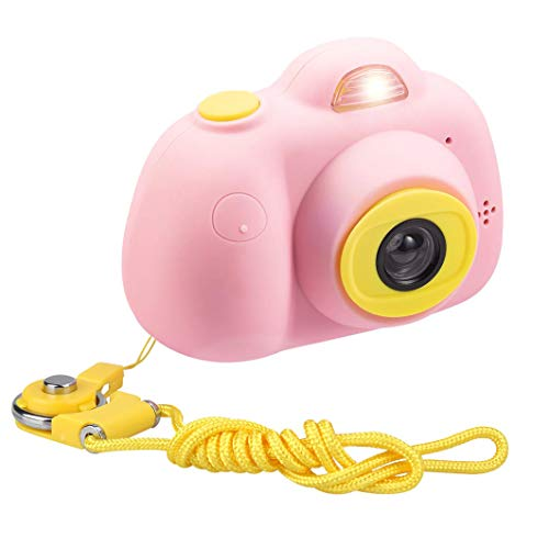 ESROVER Kids Digital Camera,2.0 Inch Screen 8MP Dual Shockproof Cameras Toys with Silicone Soft Cover Best Gifts Mini Selfie Camcorder for 4-10 Year Old Girls Boys Children