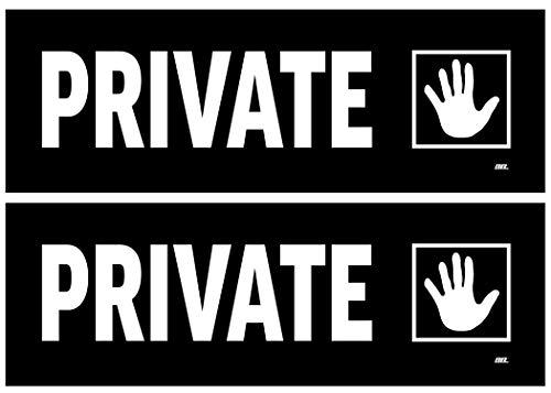 Warning Decal Set - 2 Pack Office Private Sticker Set Sign Warning 9x3 Inch Vinyl Decal Indoor Outdoor Window Door Business Retail Store