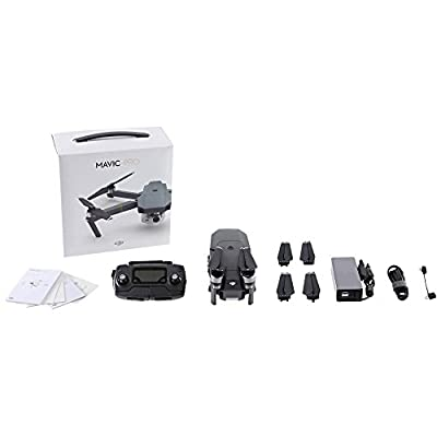DJI Mavic Pro Fly More Combo Kit: 5 Pairs 8330 Quick Release Folding Propellers + 3 Intelligent Flight Batteries + DJI Charging Hub + DJI Aircraft Sleeve + Sony 32GB microSD & MORE! (25pc Bundle)