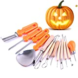 Pumpkin Knife,Feleph Premium 13 Piece Pumpkin Carving Kit Sturdy Stainless Steel Pumpkin Tools Crafted For Efficiency While Carving Your Pumpkin, by Creative Carving