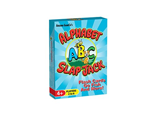 Arizona GameCo Alphabet Slap Jack - a Fun Preschool ABC Letter Learning Card Game - Kids Learn Upper/Lowercase Letter Recognition and Letter Sounds While Playing a Fun Card - Card Games Alphabet