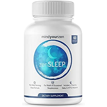 zenSLEEP – Natural Sleep Aid Supplement | Made with L-Theanine, GABA, Phellodendron Root Powder, Mucuna Proteins, 5-HTP, Melatonin | Relax for a Complete ...