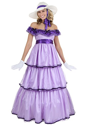 Adult Deluxe Southern Belle Costume Small Purple -