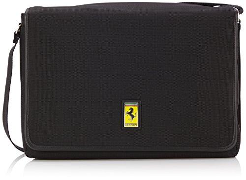 Ferrari 0UT13854 Borsa Messenger, 36 cm, Nero
