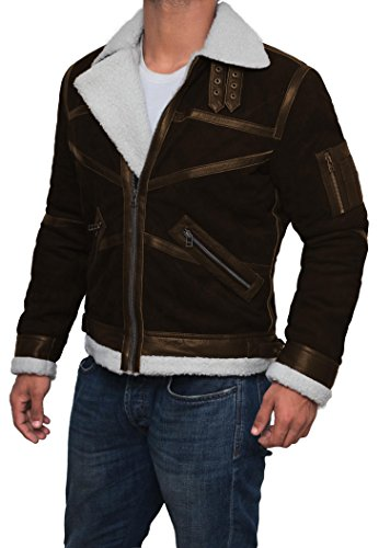 Mens Tom Cruise Jack Reacher Jacket - Leather Motorcycle Jacket (Brown - Power 50 Cent Jacket, XL) by Decrum (Image #2)