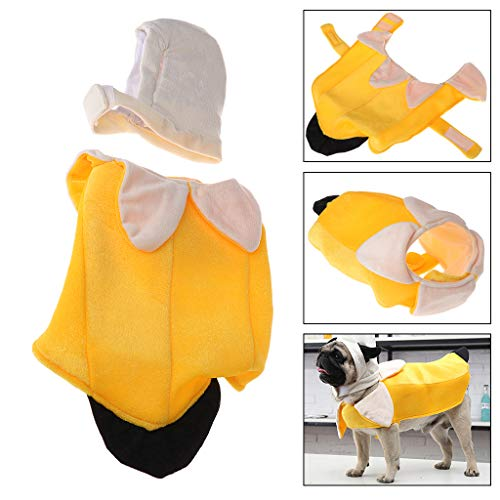 Hacloser Pet Dog Banana Costume Clothes Halloween Apparel Cosplay Mascot Funny Clothing for Dog Cat (L)]()