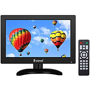 eyoyo 12 inch hdmi small tv monitor portable kitchen tv 1366x768 16 9 lcd screen. Black Bedroom Furniture Sets. Home Design Ideas