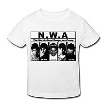 Kids Toddler Nwa Band Logo Little Boy's Girl's T Shirts
