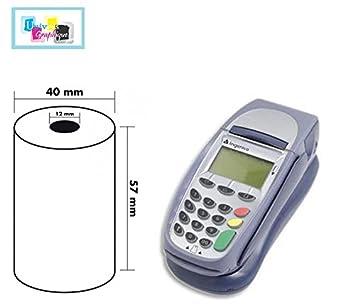 EC-Cash Rollen für blanko Ingenico ICT 250-50 EC-Thermorollen 57//18//12 Ø 40mm