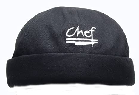 f4cc20b71 Amazon.com: Chef Revival H060BK Cotton Chef Beanie with Elastic Head ...