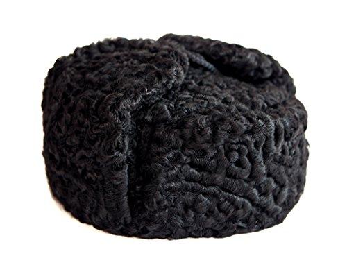 Karakul Astrakhan Fur Sheepskin Ushanka Hat. Black. 63 by Ushanka company (Image #1)