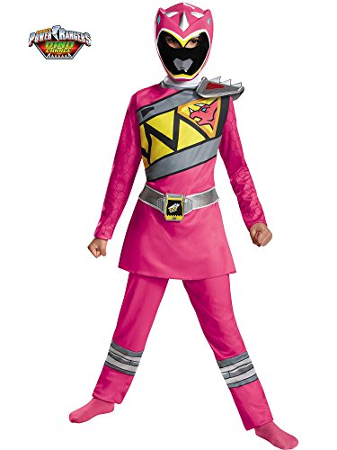Disguise Pink Power Ranger Dino Charge Classic Costume, Medium (7-8)]()
