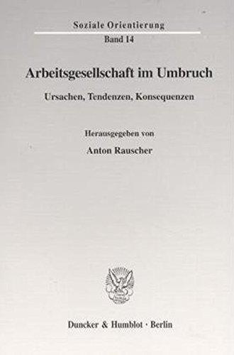 Arbeitsgesellschaft im Umbruch. Ursachen, Tendenzen, Konsequenzen. (Soziale Orientierung; SO 14) ebook
