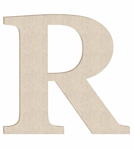 "24"" Times Unfinished Wood Letter Monogram R (Sizes 12""-30"")"