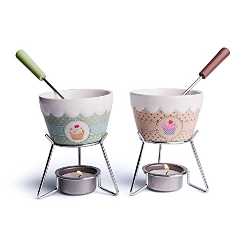Chocolate Fondue Set X2 Multi-Coloured BES1J 47383 47383_Assortiti