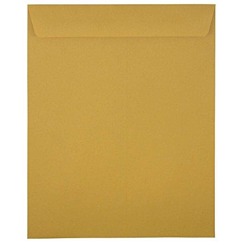 JAM PAPER 11 1/2 x 14 1/2 Open End Catalog Commercial Envelopes - Brown Kraft Manila - 50/Pack