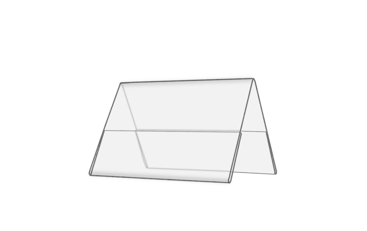 Marketing Holders Double-sided, Clear Acrylic Table Tent Frame 6 x 4 Inches (24)