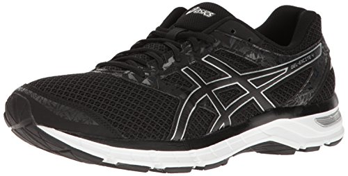 ASICS Men's Gel-Excite 4 Running Shoe, Black/Onyx/Silver, 11 M US
