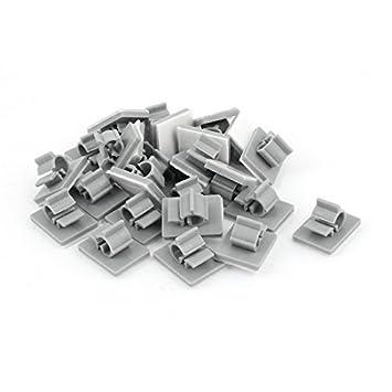 DealMux 25pcs 6mm-7mm Kabel-Draht-Halter Adhesive Clips: Amazon.de ...