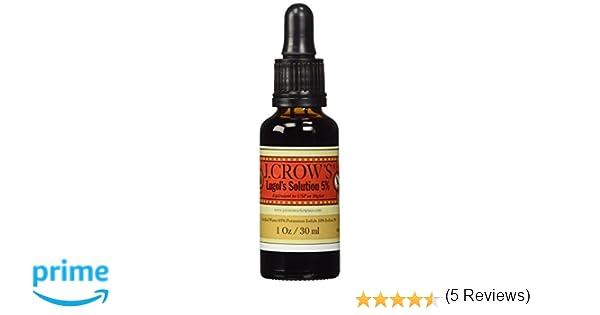 J.CROWS Lugols Solution of Iodine 5%: Amazon.es: Salud y cuidado personal