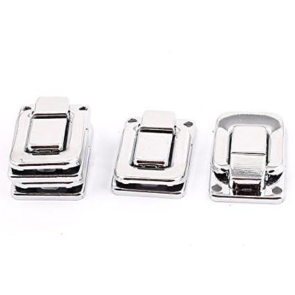 EbuyChX Jewellery Box Kaso maleta Drawbolt Closure aldaba Silver Tone 4pcs