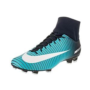 Nike Men's Mercurial Victory VI DF FG Obsidian/White Gamma Blue Soccer Cleat 10 Men US