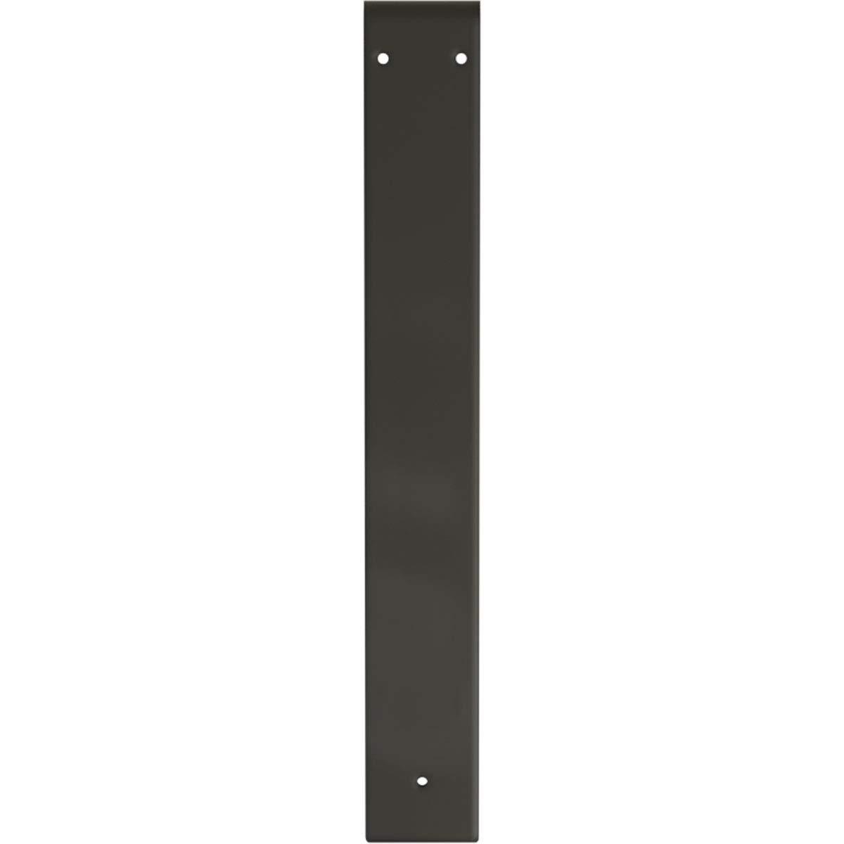 3W x 22D x 22H Powder Coated Black Ekena Millwork BKTM03X22X22MOPBL Steel Bracket