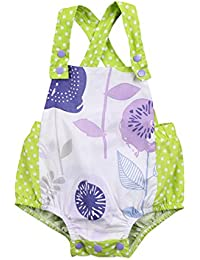 Newborn Infant Baby Girls Clothes Plaids Checks Romper...