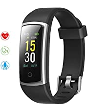 YONMIG Fitness Tracker, Activity Tracker with Blood Pressure Heart Rate Monitor, IP68 Waterproof Color Screen Fitness Watch, Pedometer Sleep Monitor Smart Watch Wristband for Women Men