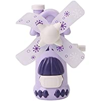 HittecH Cute Purple Windmill Personal Hand-held/Portable Mini Air Fan for Kids and Travel Toy Environmental Friendly Non-battery School Stationery