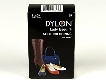 7769e160d295 Dylon 20ml 15-Black Leather Dye Shoe Boot Handbag Belt Synthetic ...