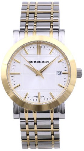 Burberry Men's BU1358 White Two-Tone Stainless Steel Watch
