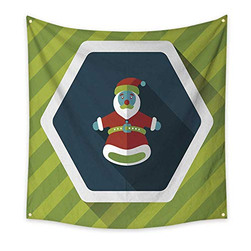 (Anyangeight Pattern Tapestry Santa Claus Hand Puppet Flat icon with Long Shadow eps 39W x 39L Inch)