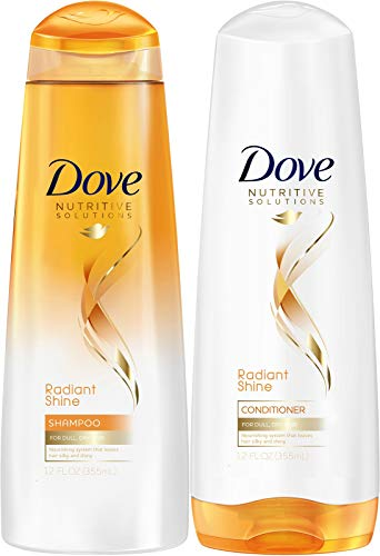 Dove Advanced Hair Series - Pure Care Dry Oil for Dull, Dry Hair - Non-Greasy - Shampoo & Conditioner Set - Net Wt. 12 FL OZ (355 mL) Each - One Set (Dove Shampoo For Dry Hair)