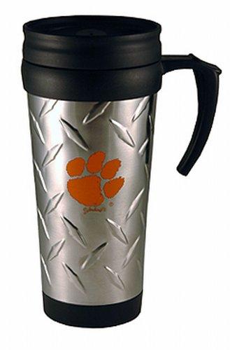 - NCAA Clemson Tigers Stainless Steel Diamond Plate Mug