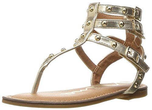 Nina Girls' Alexis Gladiator Sandal, Platino, 11 M US Little Kid (Girls Gladiator Sandals)