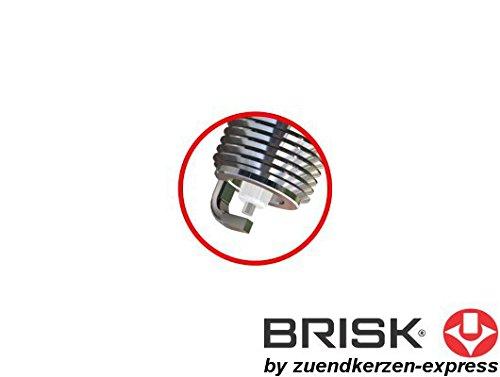 BRISK Silver DR15YS 1334 Bougies dallumage Essence GPL GNV Autogas 4 pi/èces