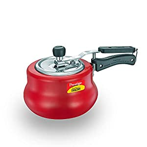 Prestige Svachh, 10752, 3 L, Nakshatra Duo Red Handi, with deep lid for Spillage Control