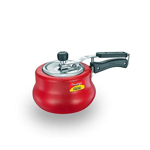 Prestige Svachh, 10752, 3 L, Nakshatra Duo Red Handi, with deep lid for Spillage Control