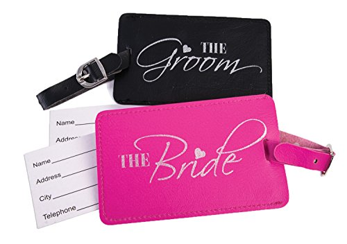 Bride and Groom Luggage Tags - Wedding Party Favor - Bride and Groom Gift - Just Married