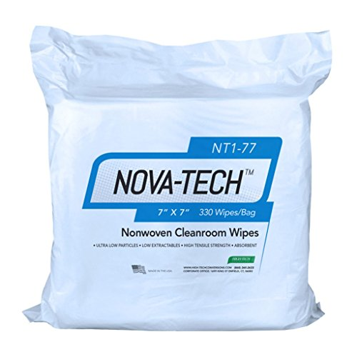 High-Tech Conversions NT1-66 NOVA-TECH Lint Free Nonwoven Cleanroom Wipe, 6