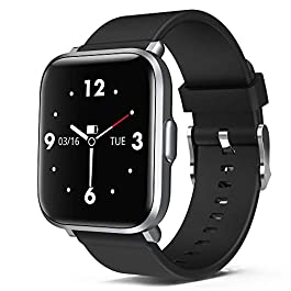 Smart Watch Fitness Tracker with Blood Oxygen Blood Pressure Monitor, 18 Sports Modes Android Smart Watch for Man Woman…